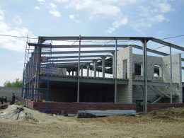 Строительство стальных каркасных домов